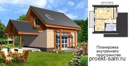 маленький дом с террасой