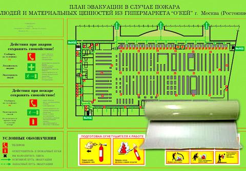 материалы план эвакуации