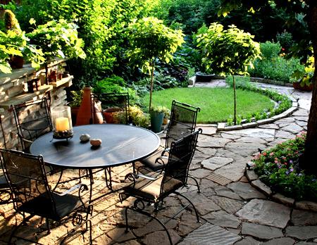 садовая мебель ландшафтный дизайн