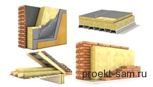 минераловатный утеплитель стен