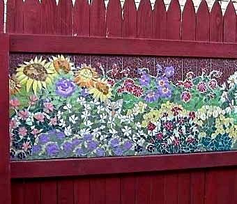 мозаика на заборе