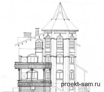 нарисованный проект дома