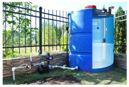 насос и бочка для системы автоматического полива