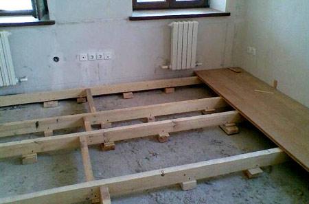 настил из деревянных полов