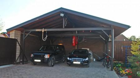 Навес на даче для машины своими руками