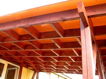 конструкция деревянный навес