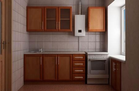 небольшая мебель на кухне в хрущевке