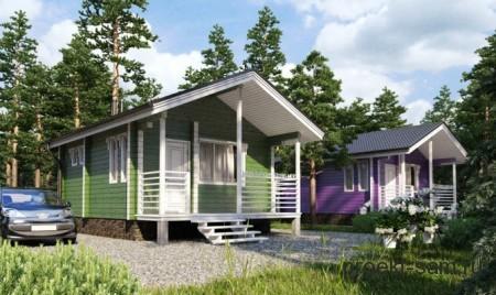 небольшой дачный дом из бруса