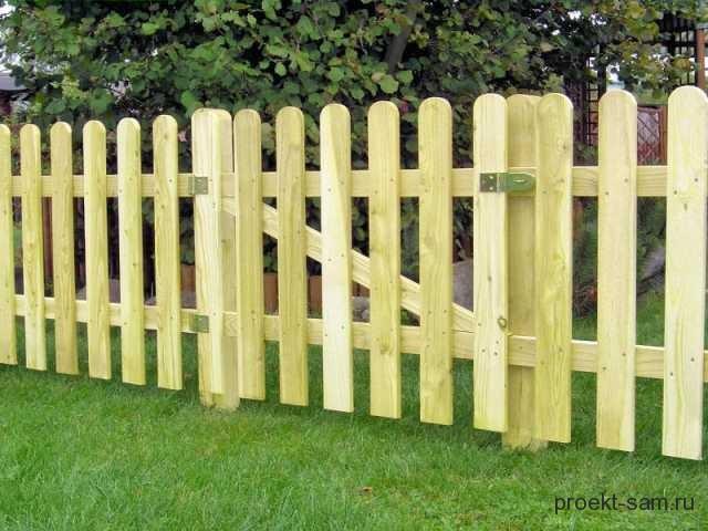 недорогой забор из штакетника