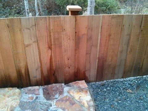 некрашенный забор