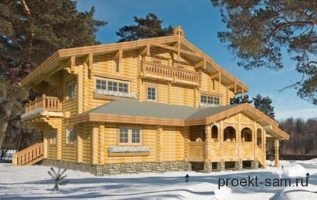 оригинальный проект дома в русском стиле