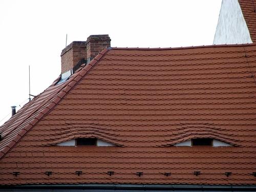 необычная крыша дома