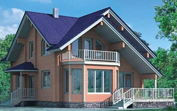 проект нового дома 2013 года с мансардой