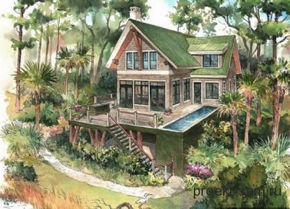 новый проект дома в лесу