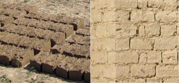 глиняные кирпичи