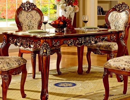 обеденный резной стол