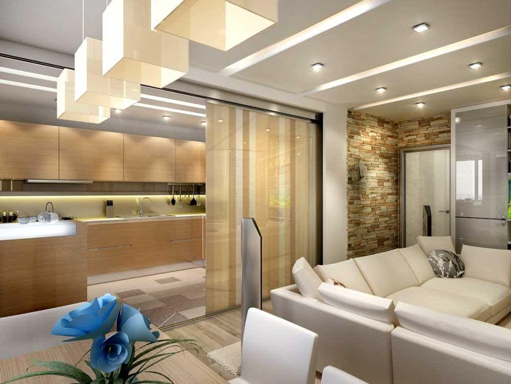 Дизайн квартир с перегородками 90
