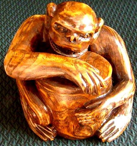 резная обезьяна
