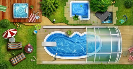 тент для дачного бассейна