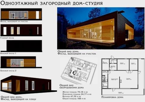одноэтажный дом студия