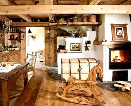 оформление деревянный дом