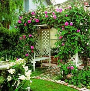 оформление беседки цветами