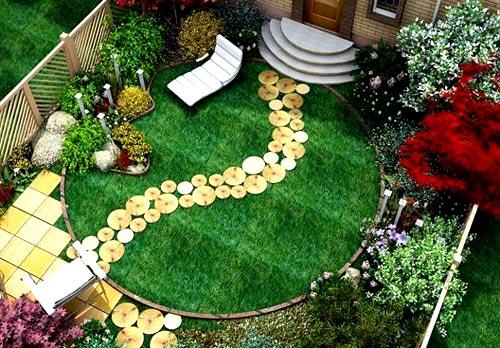 идея оформления двора