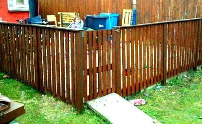 ограда из поддонов