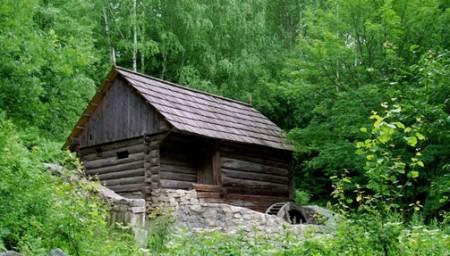 охотничий домик в лесу