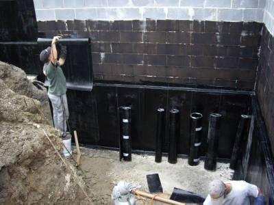 оклеечная наружная гидроизоляция стен дома
