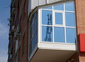 окна с зеркальной термозащитной пленкой