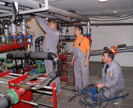 промышленная опрессовка отопительной системы