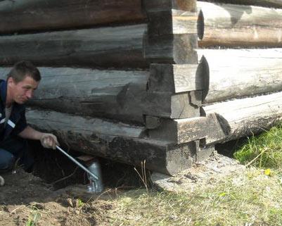 Поднимаем деревянный дом своими руками