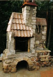 отделка камина декоративным камнем