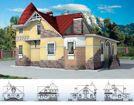 проект дома викинг с мансардой