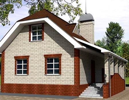 кирпичный дом мансарда