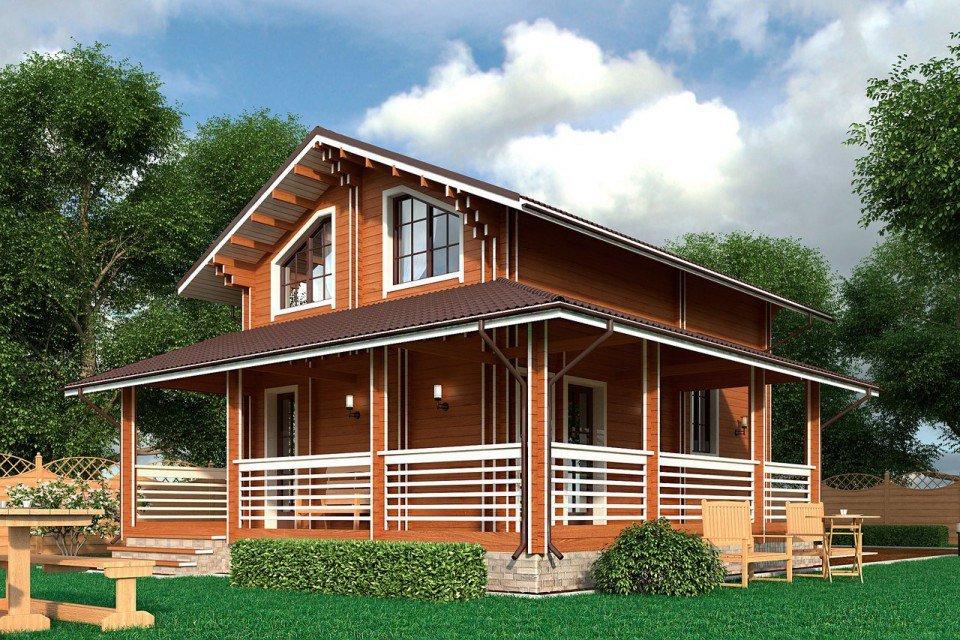 это дом деревянный двухэтажный с террасой фото прикольное