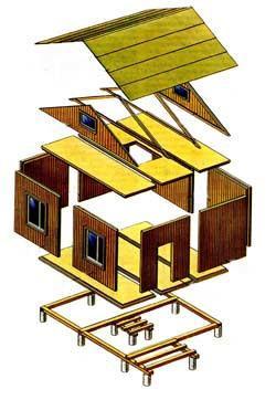 панельная модель дома