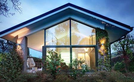 дом панорамные окна