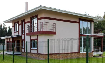 кирпичный дом панорамные окна