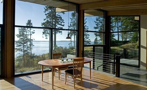каркасный коттедж панорамные окна