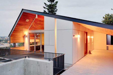 разноскатная крыша