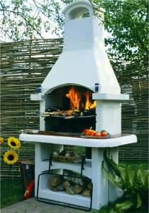 печь барбекю для дачи