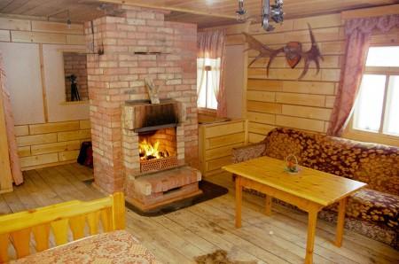 печь-камин в дачном доме