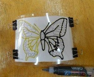 контур бабочки