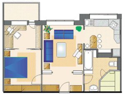 2-комнатной квартиры в 3-