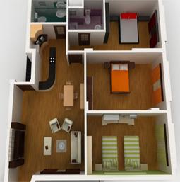 перепланировка 2-х комнатной квартиры в 3-х комнатную
