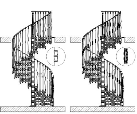 винтовая лестница перила