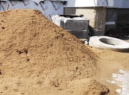 песок для монтажа отмостки