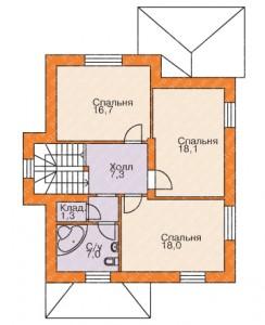 план 2 этажа дома из сибита